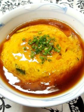 たまごスープが天津丼に変身!?