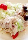 キャベツサラダの豚しゃぶ巻