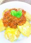 簡単トマトソース♥チーズチキンピカタ丼❇