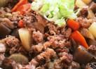 牛バラ薄切り肉でがっつり煮込み