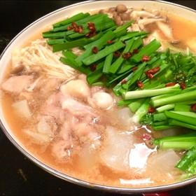 スープは手作りが1番♡私のモツ鍋