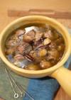 砂肝とブラウンマッシュルームのアヒージョ