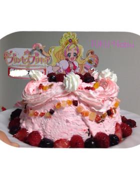 4才  プリキュアドールケーキ 簡単に!