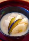 豆腐とバナナとソイッシュの和デザート