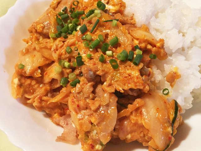 豚 キムチ 納豆