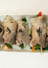 豚しゃぶ肉 生野菜巻き