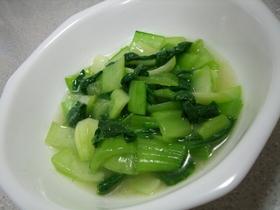 電子レンジで簡単☆チンゲン菜の中華炒め♪
