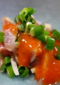 秋刀魚の薬味和え・ピリ辛酢味噌たれで