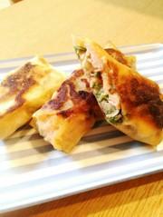 お弁当にも★鮭とキノコの春巻きの写真