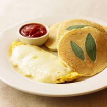 ハーブパンケーキ&チーズオムレツ