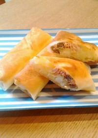 鮭とジャガイモのチーズ春巻き