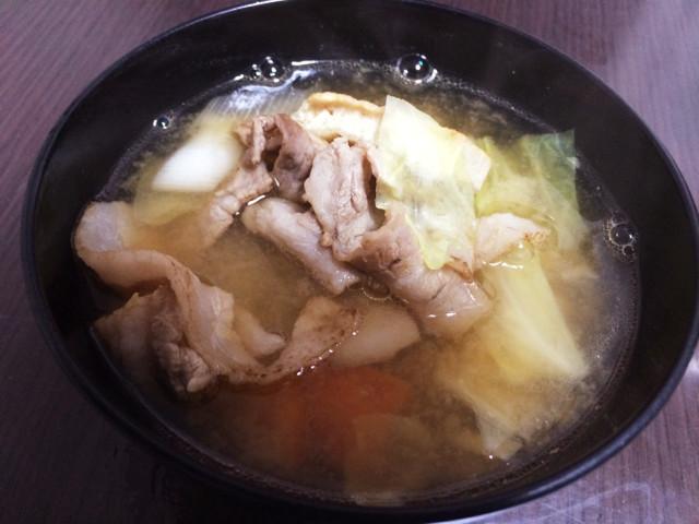 野菜をフライパンで焼くだけ☆簡単豚汁