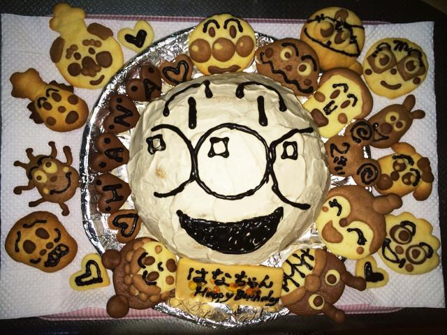 超簡単☆ドームケーキ(アンパンマン)