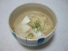 鱈のガーリックスープ