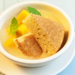 ホットケーキ&ジンジャーピーチスープ