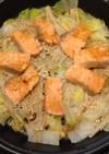 鮭と白菜のバター醤油炒め