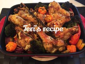 野菜カレーチキンぎゅうぎゅう焼きグリル