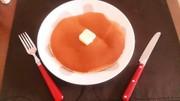 いちごシロップホットケーキの写真
