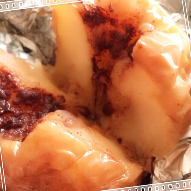 BBQデザート☆トロふわの丸ごと焼き林檎