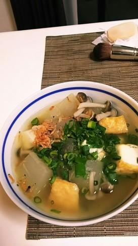 冬瓜と干しえびのスープ