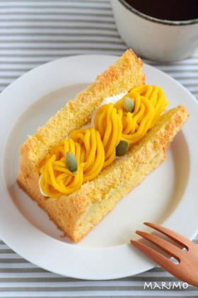 かぼちゃのモンブランシフォンケーキ