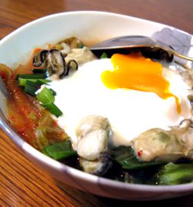 牡蠣のココット☆キムチ鍋風