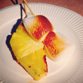 焼きパイン&マシュマロ☆BBQデザートに