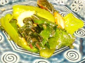 さつま芋の葉 簡単炒め