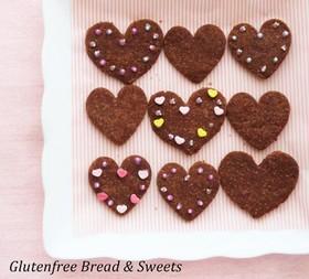 ハートのココア米粉クッキー