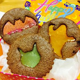 ハロウィンのステンドグラス風クッキー