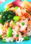 蓮根と旬のお魚のテリ♪シャキ☆混ぜご飯