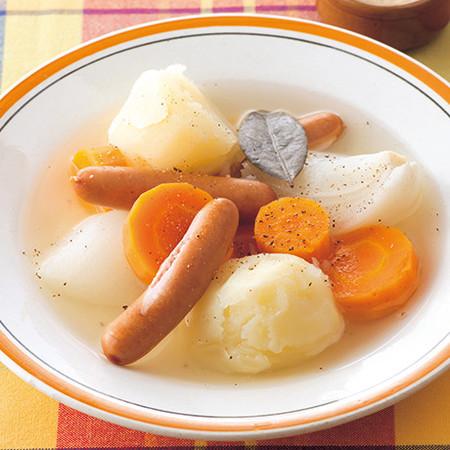 ソーセージと根菜の南仏風ポトフ