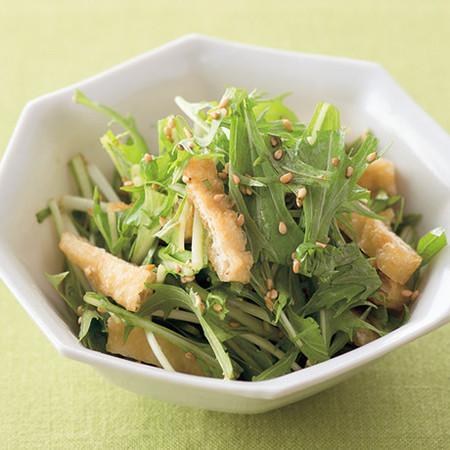 水菜と油揚げのナムル
