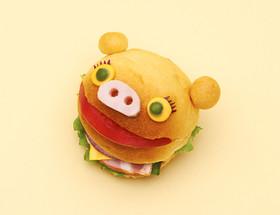HBでブタのちぎりパン・サンドイッチ