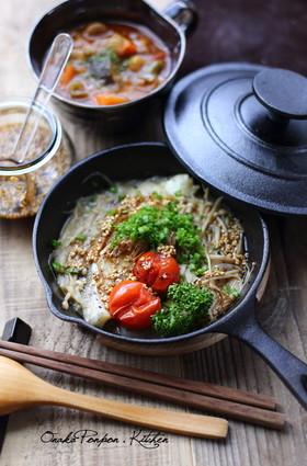 スキレットで鱈の蒸し焼き♪ 中華風タレ♡