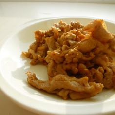簡単で材料少しの豚肉ニンニク醤油焼き