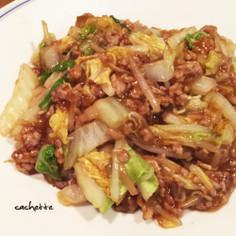 白菜とひき肉のうまトロ炒め