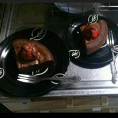 材料3つ!炊飯器でガトーショコラ★