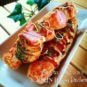 魚肉ソーセージカツ♡お好み焼き味♡の写真