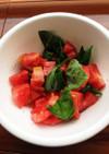 生バジルとトマトのやみつきサラダ