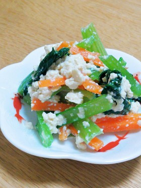 味付けは塩麹だけ!小松菜の白和え