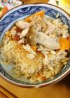 鶏ももとしめじの生姜風味炊き込み御飯