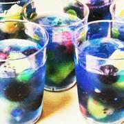 ミント風味ブルーなソーダゼリーの写真