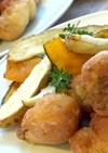 ササミのバジルフリット〜焼き野菜を添えて