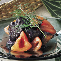 揚げなすとトマトのマリネ クミン風味