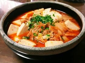 ☆あったか豚バラとキムチ豆腐の煮込み☆