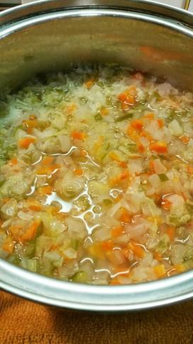 簡単☆野菜スープで万能離乳食