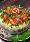 お祝いにケーキ寿司。押し寿司♡誕生日も