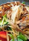 蕎麦と鶏ムネ肉のヘルシーサラダ仕立て