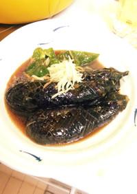 麺つゆで超簡単、ナスとピーマンの揚げ浸し